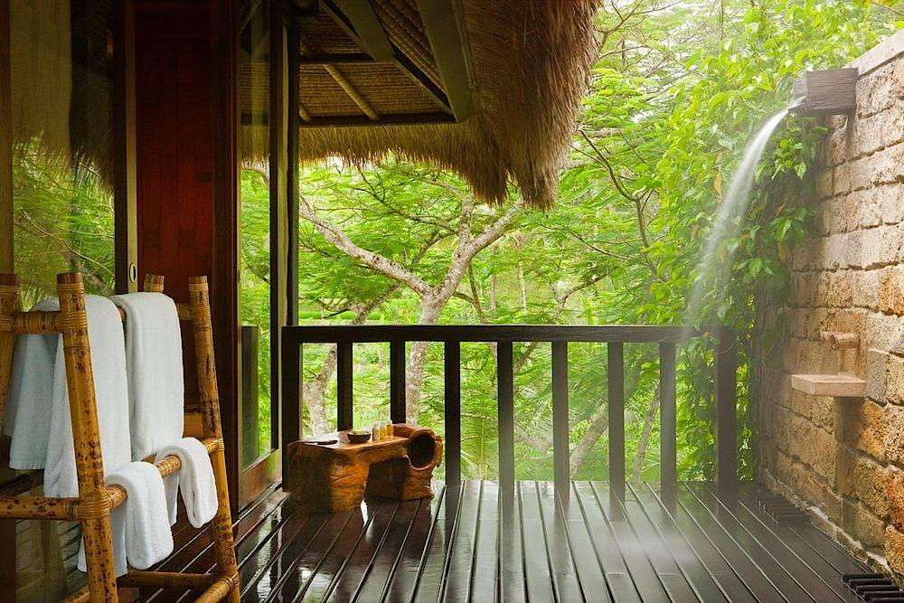 Outdoor Dusche, COMO Shambhala Estate, Bali, Indonesien Rundreise