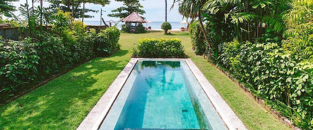 Privater Pool, Tugu Lombok, Indonesien Reise