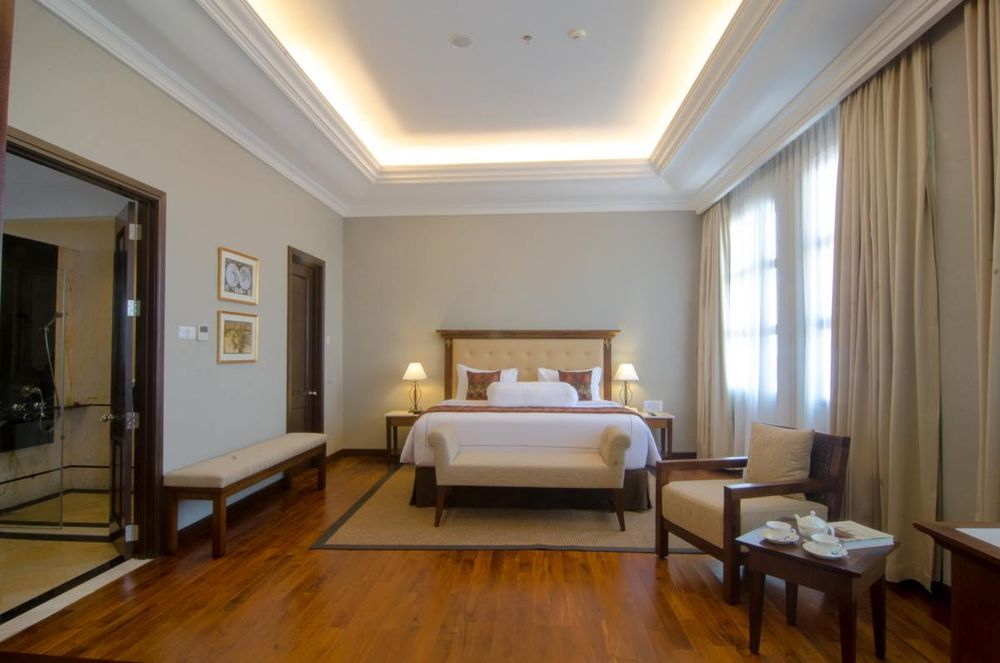 Schlafzimmer, The Sunan Hotel, Solo, Indonesien Rundreise
