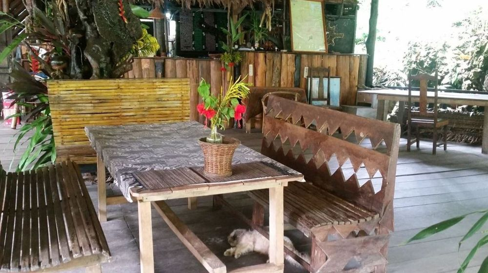 Rezeption der Tangkahan Beach Jungle Lodge, Indonesien Reise