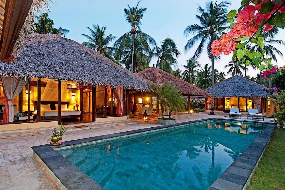 Poolbereich, Kura Kura Resort, Indonesien Reise